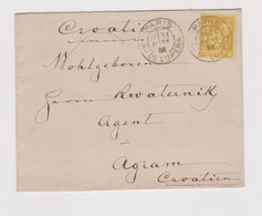 FRANCE 1886 PARIS Nice Cover To Zagreb Croatia Hungary Austria - 1876-1878 Sage (Type I)