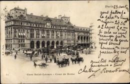CPA Paris VIII., Gare Saint Lazare, Cour De Rome - Sonstige