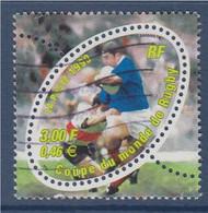 Coupe Du Monde De Rugby 1999 N°3280a Oblitéré Sans Le F à ITVF - Variétés: 1990-99 Oblitérés