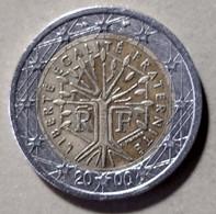 2000/12 - FRANCIA  - MONETA IN EURO - DEL VALORE DI 2,00 EURO  -  CIRCOLATA - France