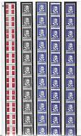 France Vignettes Expérimentales Cinq Roulettes Entières Neufs ** MNH. TB. A Saisir! - Coil Stamps