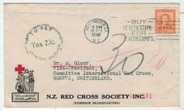 Nouvelle-Zélande //  Lettre De La Croix Rouge Pour La Suisse (Genève) - Briefe U. Dokumente