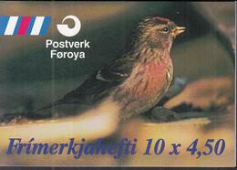 FÄRÖER  Markenheftchen 13, Gestempelt, Vögel, 1997 - Faroe Islands