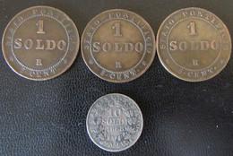 Vatican - Monnaie 10 Soldi 1868 R (Rome) En Argent +3 X 1 Soldo 1867 - Vatican