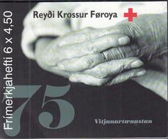 FÄRÖER Markenheftchen 2 MH, 6x 391-392, Gestempelt, 75 Jahre Färöisches Rotes Kreuz, 2001 - Faroe Islands