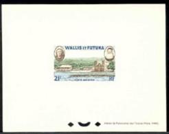WALLIS & FUTUNA (1960) View Of Mata-Utu. Deluxe Sheet. Scott No C13, Yvert No PA16. - Imperforates, Proofs & Errors