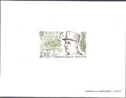 WALLIS & FUTUNA (1980) De Gaulle. Deluxe Sheet. Scott No C104, Yvert No PA106. - Imperforates, Proofs & Errors