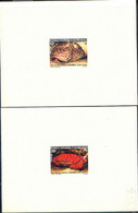 NEW CALEDONIA (1982) Crabs. Set Of 2 Deluxe Sheets. Scott Nos 470-1, Yvert Nos 453-4. - Imperforates, Proofs & Errors