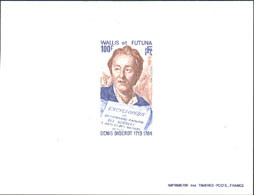 WALLIS & FUTUNA (1984) Diderot. Page Of Encyclopedia. Deluxe Sheet. Scott No 316, Yvert No 319. - Imperforates, Proofs & Errors