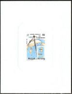 WALLIS & FUTUNA (1989) Satellite. Map. Deluxe Sheet. World Telecommunications Day. Scott No 381, Yvert No 387 - Imperforates, Proofs & Errors