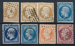 EC-66: FRANCE: Lot Obl Avec N°13A-13B (paire)-14Ac-14Aa-14B-16-17A - 1853-1860 Napoleon III