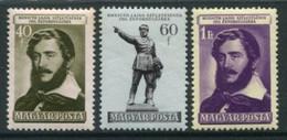 HUNGARY 1952 Kossuth Anniversary  MNH / **.  Michel 1265-67 - Ungebraucht