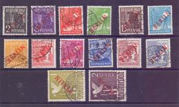 Berlin Rotaufdruck-Satz 1949 - MiNr. 21/34 Gestempelt - Michel 900,00 € (288) - Gebraucht