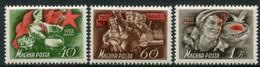 HUNGARY 1952 Labour Day MNH / **  Michel 1244-46 - Ungebraucht