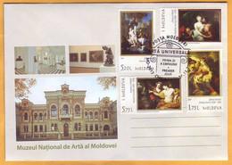 2019 Moldova Moldavie Private FDC  Art, Paintings, Artists, Museum - Desnudos