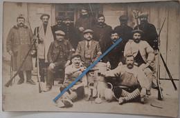 1915 Orange Territoriaux Infanterie Territoriale GCV Fusils Gras En Civils Garde Voie Tranchée Ww1 Poilus 14-18 Photo - Guerra, Militari