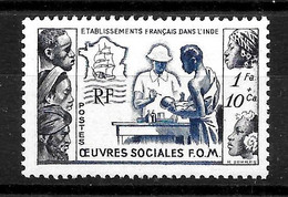 "INDE Colonie : N° 254 Neuf ** ""Oeuvres Sociales"" (cote 5,05 €) - Nuovi"