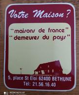 Autocollant Publicitaire, Maisons De France, Bethune - Stickers