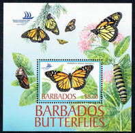 Barbados 2005, Schmetterling/Butterfly/Papillon, Monarch/Monarque (Danaus Plexippus) MiNr. 1094 Block 45 - Butterflies