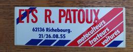 Autocollant Publicitaire, Motoculture, Automobiles, Richebourg - Stickers