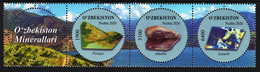 Uzbekistan - 2020 - Minerals - Mint Stamp Set (se-tenant Strip) - Uzbekistan
