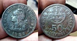 PORTUGAL ST. THOMAS And PRINCE 50 CENTAVOS 1929 Km# 1 (CX#01-534) - Sao Tome And Principe