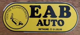 Autocollant Publicitaire Automobile EAB, Bethune - Stickers