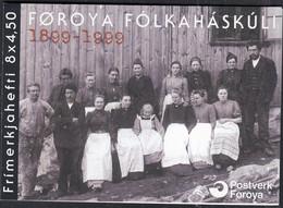 FÄRÖER  Markenheftchen MH 18, 4x 372-373, Gestempelt, 100 Jahre Färöische Volkshochschule 2000 - Faroe Islands