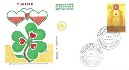 TUNISIE République -Enveloppe 1er Jour Yvert Association Donneurs De Sang - Année 1981 - Cad 5 3 81 - - Tunisie (1956-...)