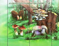 Uzbekistan - 2019 - Uzbek Flora - Mushrooms - Mint Stamp Sheetlet - Ouzbékistan