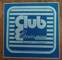 Autocollant Publicitaire, Club Elysees, Thionville - Stickers