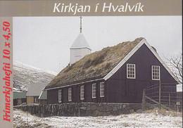 FÄRÖER Markenheftchen MH 14, 5x 326-327, Gestempelt, Kirche Von Hvalvík 1997 - Faroe Islands