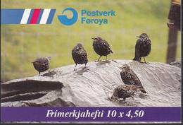 FÄRÖER Markenheftchen MH 15, 5x 332-333, Gestempelt, Standvögel 1998 - Faroe Islands