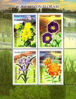 Uzbekistan - 2018 - Flora Of Uzbekistan - Mint Stamp Sheetlet - Uzbekistan