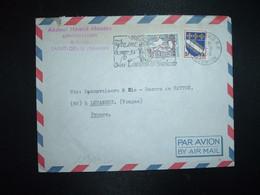 LETTRE TP M. DE COCTEAU Surch. 10f CFA + TROYES 0,10 Surch. 5f CFA OBL.MEC.10-8 1968 74 ST DENIS RP REUNION+Abdoul Hamid - Brieven En Documenten