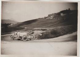 Photo Automobile Targa Florio 1926  Pasquale Croce  Sur Sa Voiture Bugatti N° 8  Dans Un Virage Cliché Original Meurisse - Automobile