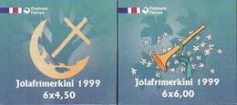 FÄRÖER 2 Markenheftchen Mit 6x 366+367, Gestempelt, Weihnachten, 1999 - Faroe Islands