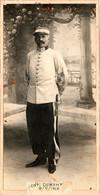 Photo (16,5 X 8,5 Cm). Chef De Bataillon Dumont Du 1er Régiment De Tirailleurs Algériens - Guerra, Militari
