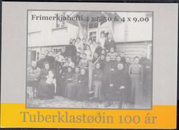 FÄRÖER Markenheftchen MH 31 Mit 4x 632-633, Gestempelt, Tuberkulosesanatorium, 2008 - Faroe Islands