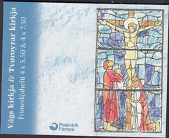 FÄRÖER Markenheftchen MH 24 Mit 4x 511-512, Gestempelt, Kirchen, 2004 - Faroe Islands