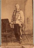 Photo (15 X 10,5 Cm). Capitaine Baddréau Du 1er Régiment De Tirailleurs Algériens. Photo L. David, Blidah - Guerra, Militari
