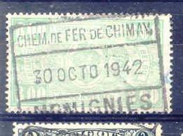 B392 -België  Spoorweg Chemin De Fer  Met Stempel CHEM FER DE CHIMAY MOMIGNIES - 1942-1951