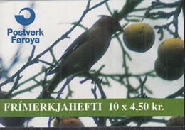 FÄRÖER Markenheftchen MH 11 Mit 5x 298-299, Gestempelt, Invasions-Vögel, 1996 - Faroe Islands