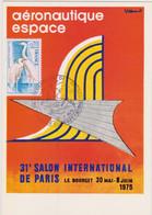 VILLEMOT  - Salon Aeronautique Espace Bourget - CPM 10,5x15 TBE 1975 Neuve Obliteration Philatélique - Autres Illustrateurs