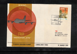 Portugal 1972 TAP First Flight Lisboa - New York - Covers & Documents