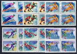 POLAND 1976 Winter Olympics In Blocks Of 4 MNH / **. Michel 2421-26 - Ongebruikt