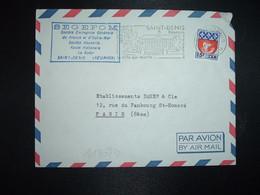 LETTRE TP BLASON PARIS 0,30 Surch. 15f CFA OBL.MEC.3-6 1965 SAINT-DENIS REUNION Sa Préfecture + SEGEFOM - Brieven En Documenten