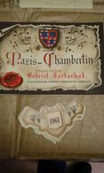 Etiquette Vin Chambertin 1961 - Altri