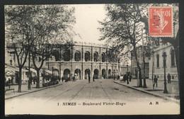 France 1917 De Nîmes Vers La Louvière (Belgique) Affranchissement Perforé - Briefe U. Dokumente