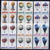 POLAND 1981 Gordon Bennett Balloon Championships Set In Blocks Of 4 MNH / **.  Michel 2729-34 - Ongebruikt